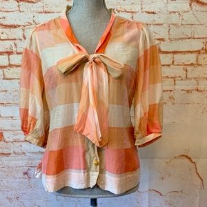 Anthropologie Maeve Button Front Blouse